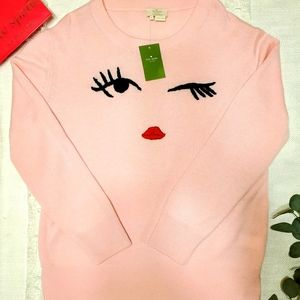 Kate Spade Winking Sweater in Pink